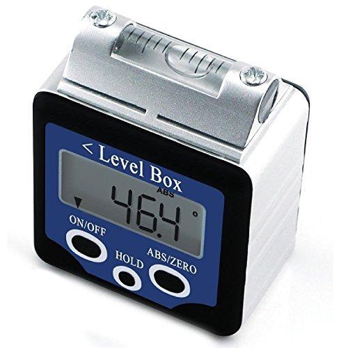 Digital Winkelmesser Messgerät, Neigungs-Wasserwaage mit Winkelmesser, 180 Grad