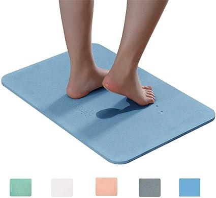 Assorbente Diatomaceous Earth Marbrasse Tappetino da Bagno Design Giapponese Antibatterico Deodorante tappetini Antiscivolo Bagno Grey