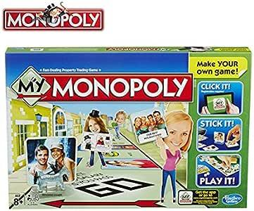 Juego de juego My Monopoly para hacer tu propio juego personalizable Hasbro A8595: Amazon.es: Juguetes y juegos