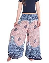 Lannaclothesdesign Womens Palazzo Pants Lounge Wide Legs Trousers S M L XL Sizes