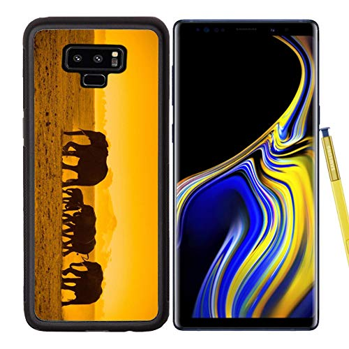 - Samsung Galaxy Note9 Case Aluminum Backplate Bumper Snap Case Silhouettes of Elephants amboseli National Park Kenya Image 5380911 Customized Tablemat