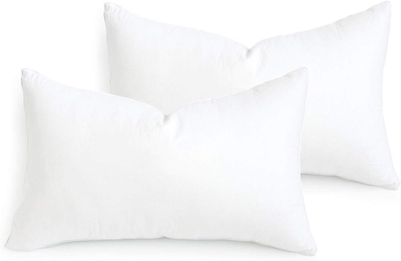 Hofdeco Water Resistant Synthetic Down Alternative Lumbar Pillow Insert Sham Stuffer, Rectangle Form, 13