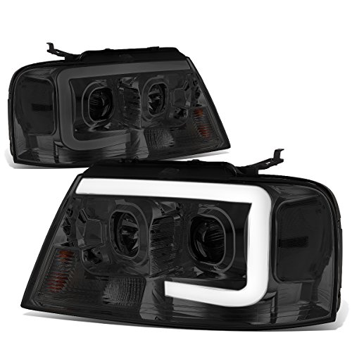 For Ford F150 / Lincoln Mark LT Smoked Housing Clear Corner 3D LED DRL Projector Headlight Lamp