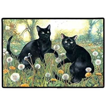 Black Cat Doormat Amp Ripndip Lord Nermal Go Away Doormat Rug