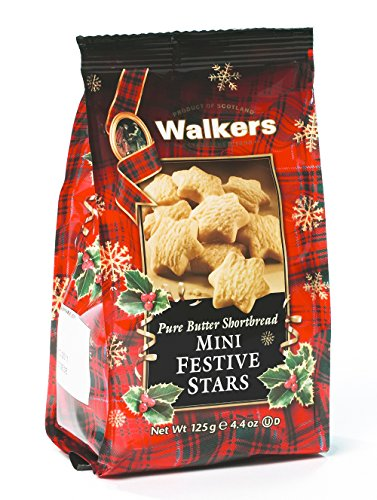 Walkers Shortbread Mini Festive Stars, 4.4-Ounce (Pack of (Brown Shortbread Cookies)