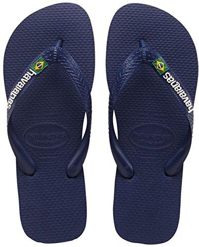 Havaianas Brasil logo 4000032 Unisex - Erwachsene Flip Flops, Blau (Navy Blue 0555), Gr.41/42 EU(39/40  BR)