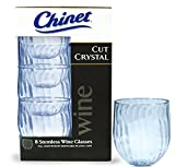 Chinet Cut Crystal 15oz Stemless Wineglass (8x5 boxes