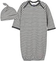 Grow by Gerber Baby-Boys Organic 2-Piece Gown and Cap Set