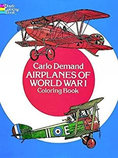 airplanes of world war i coloring book dover history coloring book
