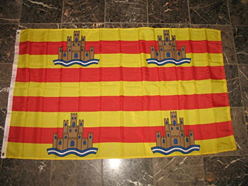 ALBATROS 3 ft x 5 ft Ibiza Spain Spanish Island Rough Tex Knitted Flag Brass Grommets for Home and Parades, Official Party, All Weather Indoors Outdoors