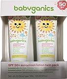 Babyganics Mineral-Based Baby Sunscreen Lotion, SPF 50, 8oz Tube (Pack of 2)
