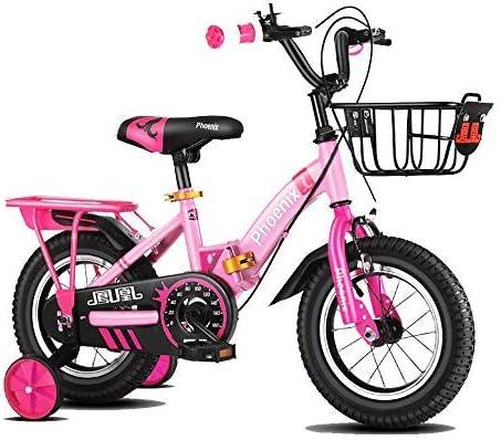 YSA キッズバイクキッズバイクスチールフレーム子供自転車リトルプリンセススタイル12-18インチトレーニングホイール自転車