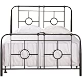 Hawthorne Collections Queen Metal Bed in Black Sparkle