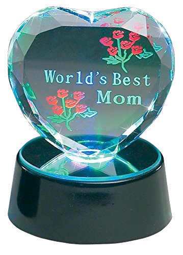 Light up LED World's Best Mom Heart Keepsake