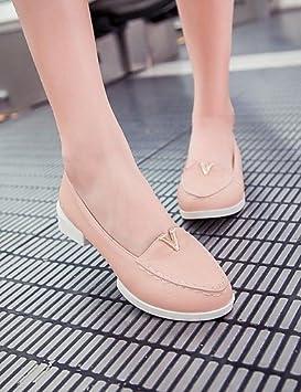 Zapatos de mujer Mocasines con tacón bajo zapatos de punta redonda más colores disponibles beige-