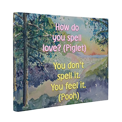 Winnie the Pooh Motivational Quote CANVAS Wall Art Home Décor