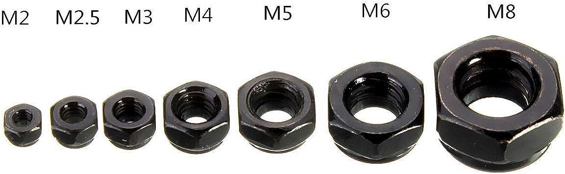CS1-50 tuercas hexagonales de acero al carbono M2//M2.5//M3//M4//M5//M6//M8//M10//M12