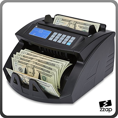 The ZZap NC20 Bill Counter - Counts 1000 bills per minute, batch counting, counts all world currencies and more!