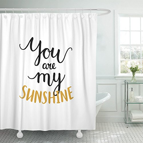 Emvency Shower Curtain Heart You are My Sunshine