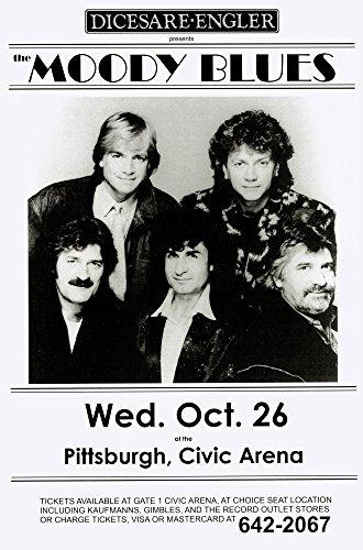 Price comparison product image Moody Blues Civic Arena LIVE 1983 Retro Art Print — Poster Size — Print of Retro Concert Poster — Features Graeme Edge