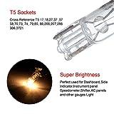 20 pcs T5 17 86 206 White Halogen Light Bulb