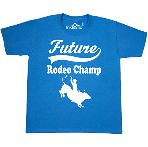 inktastic Future Rodeo Champ Youth T-Shirt Youth X-Small (2-4) Pacific Blue