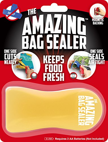 Just For Laughs The Amazing Bag Sealer, Airtight Food Storage Solution - Yellow