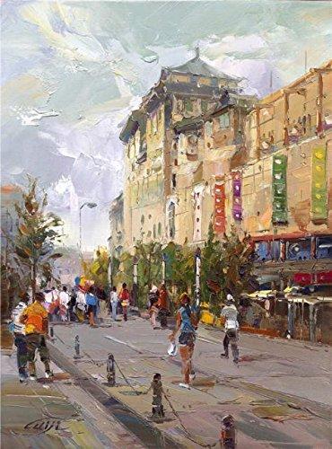 The Perfect Effectキャンバスの油絵`装飾風景画の通りを`、サイズ: 20x 27インチ/ 51x 69cm、このアート装飾プリントキャンバスは、フィットのゲームルームアートワークとホームデコレーションとギフトの商品画像