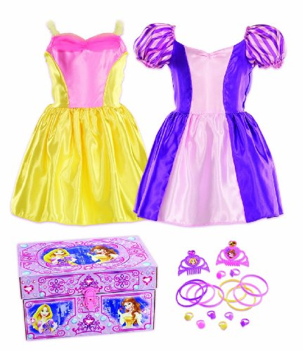Disney Princess Bling Rapunzel and Belle Dress-Up Trunk (Little Girls Dress Up)