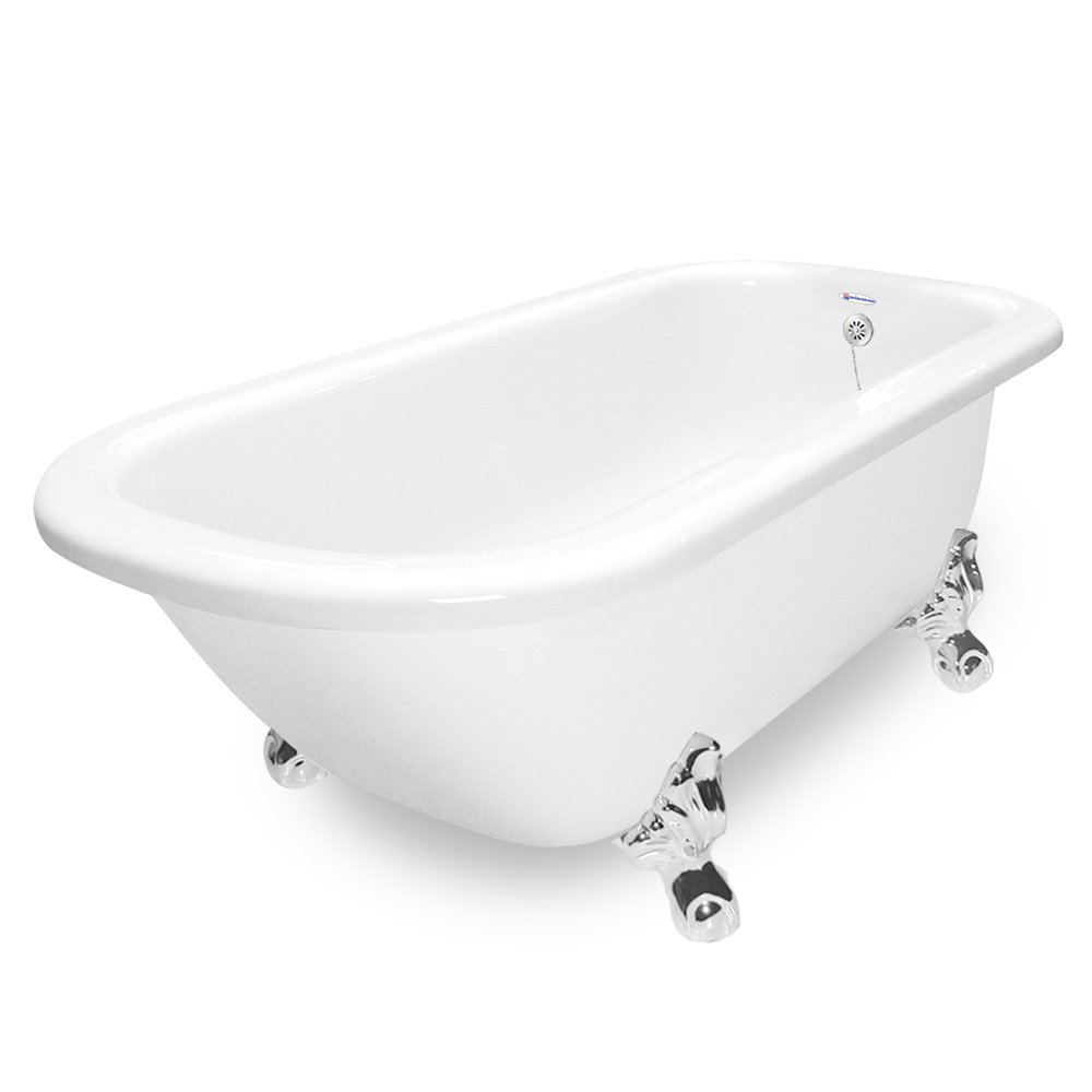 American Bath Factory T061A-CH & DM-7 Maverick 67 in. White ...