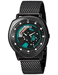 Bulova Men's 98A136 Accutron  Black Steel Bracelet Watch