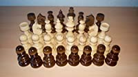 New handmade,handcrafted,european art hazel wooden beautiful chess piece set,King is 3.62 in,nut brown color,classical design