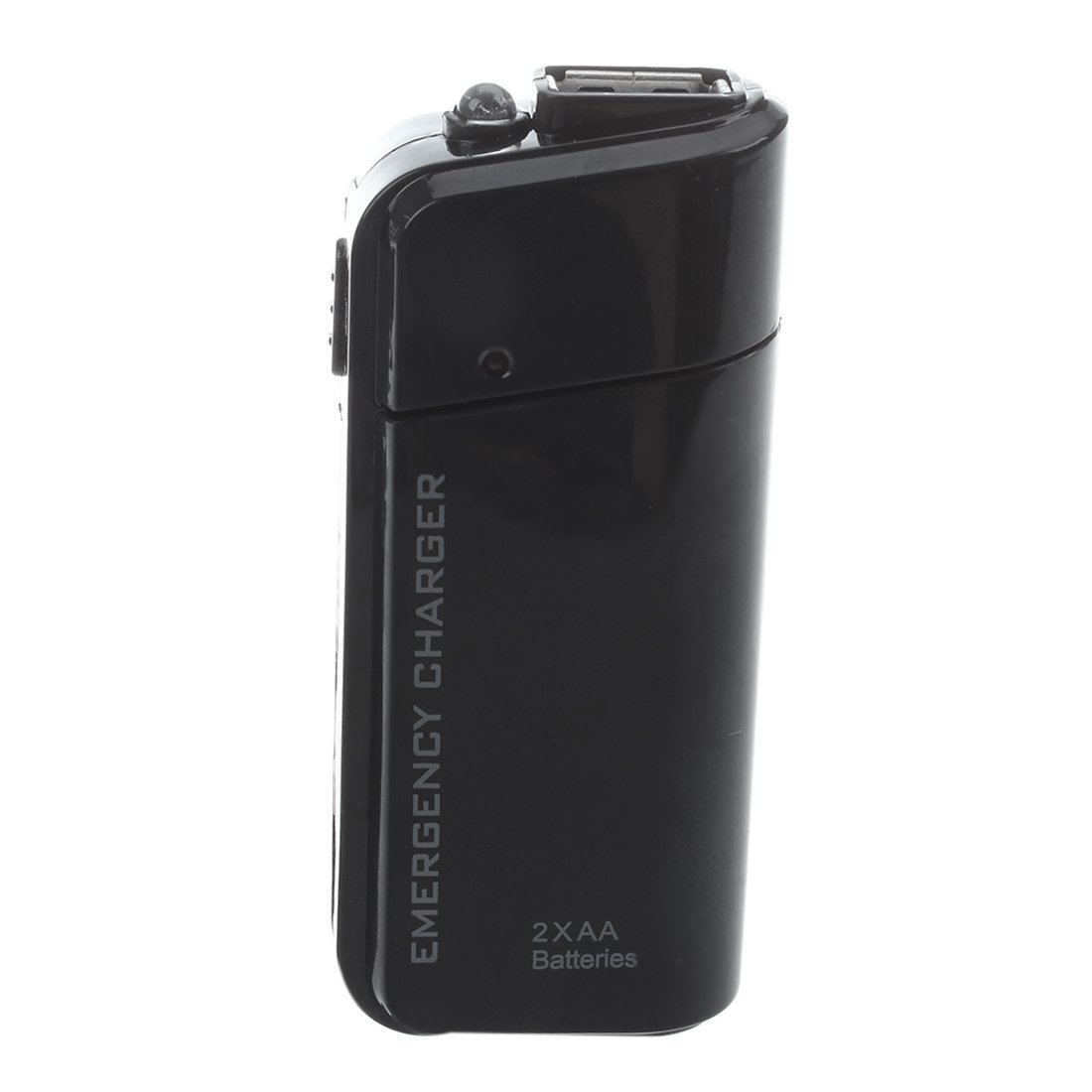 SODIAL(R) Portable USB Emergency AA Battery Powered Charger With Flashlight for Cellphone iPhone iPod MP3/MP4 player Black by SODIAL (Image #3)