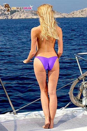 Brésilien Tanga Violet Bain Femme Uni De Brazil Bleu Bikini Blanc Orange Noir Maillot Rouge Rose Marron aqBXwx