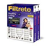 Filtrete 20x25x4, AC Furnace Air Filter, MPR 1550 DP, Healthy Living Ultra Allergen Deep Pleat, 2-Pack