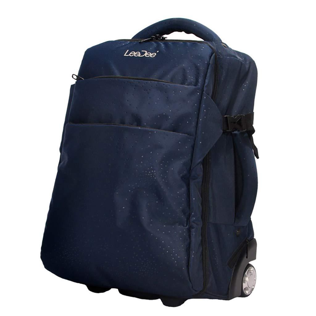 学校のラップトップバッグを旅する少年のためのトロリーバックパック大容量ストレージウィールドローリングバックパック防水旅の荷物   B07NMRN46Q
