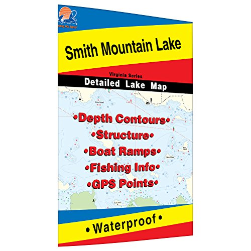 Smith Mountain Lake Fishing Map by Fishing Hot Spots