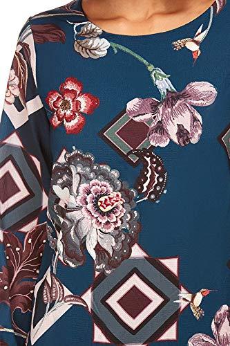 Femme Robe Vert Imprimée canard 77221 fleur Bastille Creations Manon Réf Doucel q87wxtX