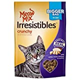 Meow Mix Irresistibles Crunchy White Meat Chicken & Turkey Cat Treat, 11 oz, (10 Pack)