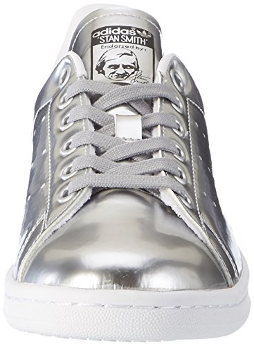 Metallic footwear Metallic Argent White W Silver adidas de Gymnastique Chaussures Femme Stan Smith Silver fzxPqSR