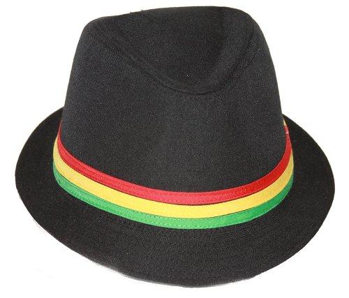 Rastafarian Colored Fashion Black Fedora product image