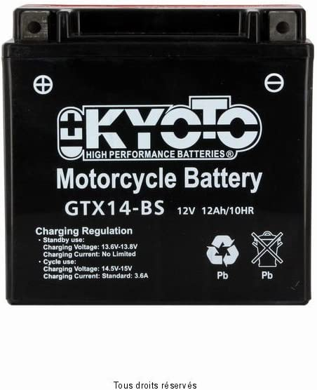 YTX14-BS BATTERIE KYOTO MP3 YOURBAN 300 LT 2011-2014
