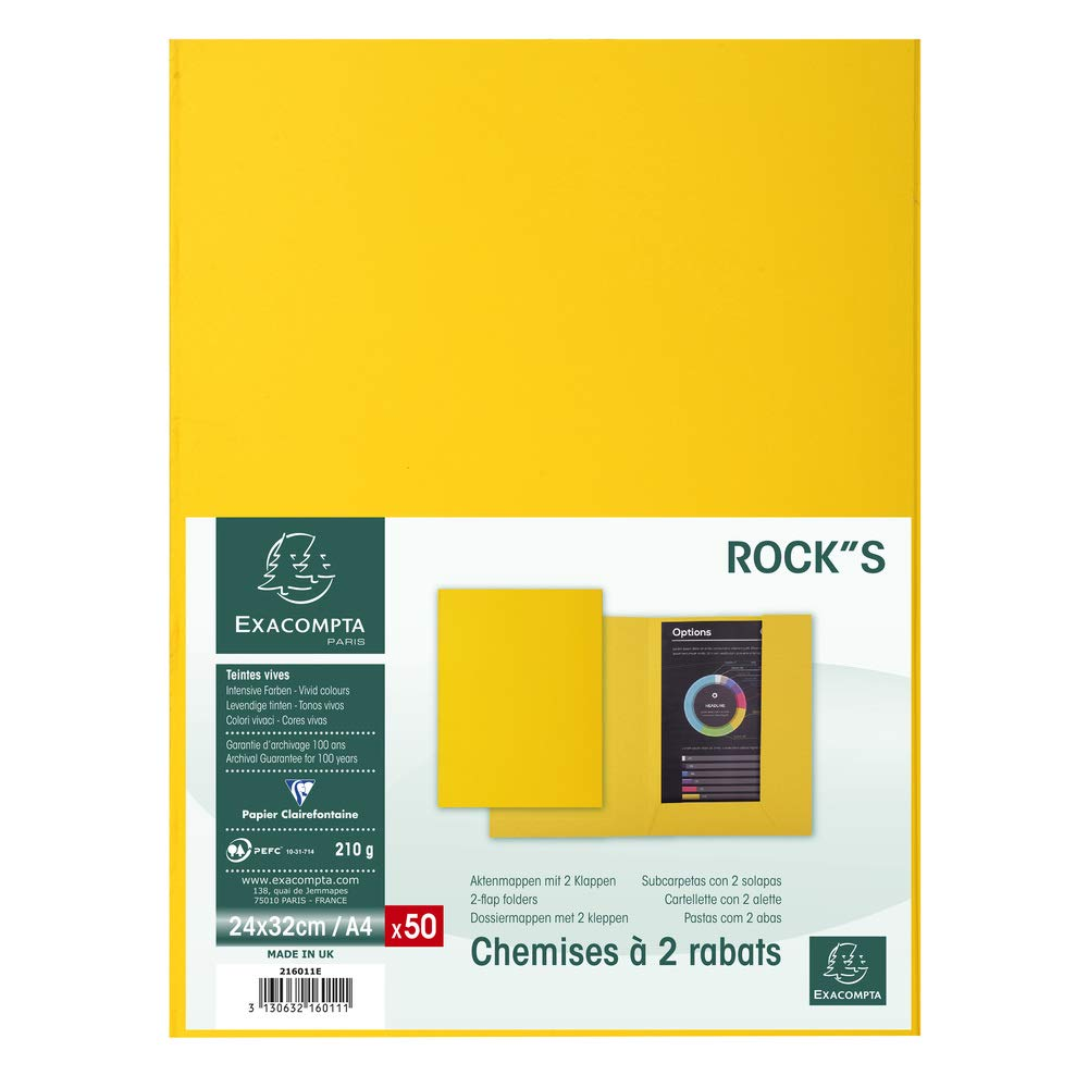 Amazon.com : Exacompta 216011E Rocks 210 2 Flap Folders ...