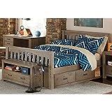NE Kids Highlands Harper Full Slat Storage Bed in Driftwood