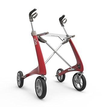 Andador/andador de carbono con 4 ruedas ultraligero - rojo ...