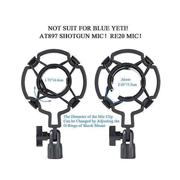 HAUEA supporto microfono regolabile professionale braccio per microfono con Ragno e adattatore per studio registrazione… 5 spesavip