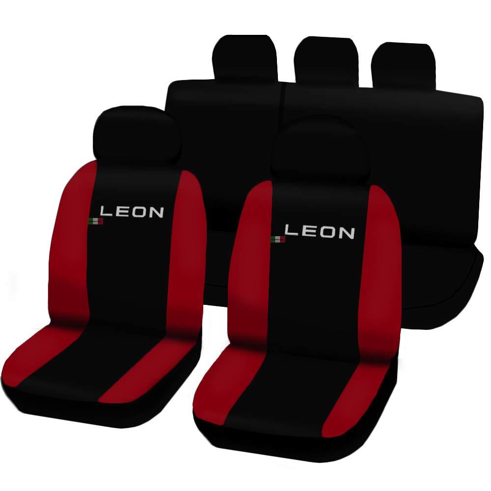 Lupex Shop N.R Coprisedili Seat Leon 3A Serie Bicolore Nero-Rosso