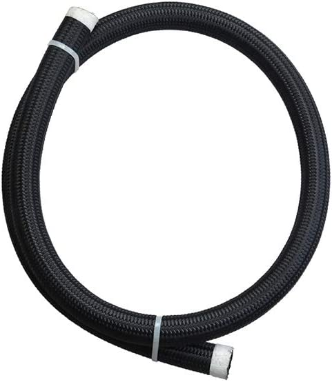 Schwarz AN10 Kraftstoffschlauch Nylon geflochten Kraftstoffschlauch /Ölk/ühler Schlauch f/ür Kraftstoff /Öl oder K/ühlmittel 1 m einschlie/ßlich Ethanol und Nitromethan