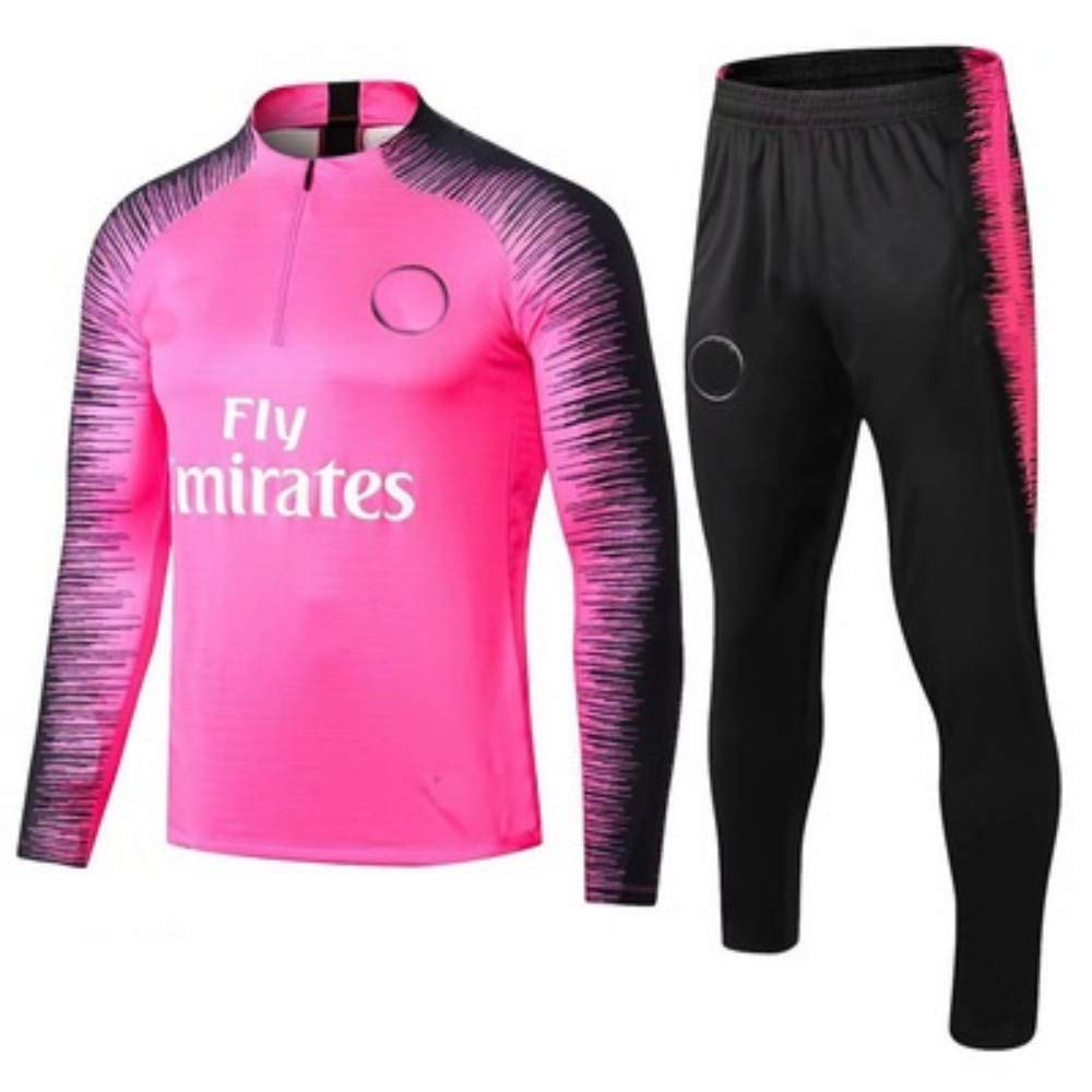Club Maillot dentra/înement de Football Veste /à Manches Longues 1819 Soccer Jersey Sportswear Veste Soccer Uniforme Surv/êtement Tournoi