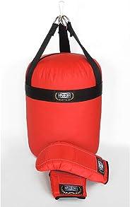 Kit Boxe Infantil Punch Unissex 0,30 X 0,25 X 0,25 Vermelho